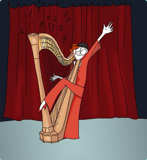 au fil d 39 elene sophie la harpiste. Black Bedroom Furniture Sets. Home Design Ideas